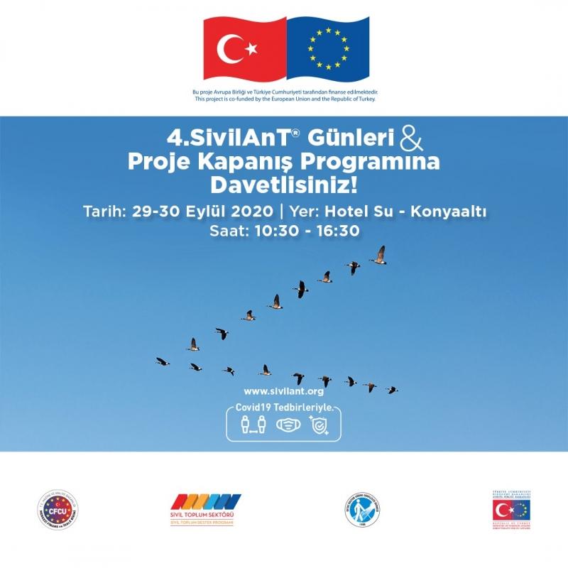 4.SivilAnT® Günleri ve Proje Kapanış Programı